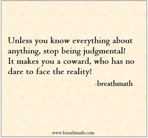Judgmental world
