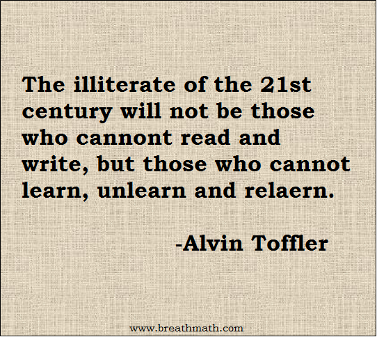 Illiterate of 21st century