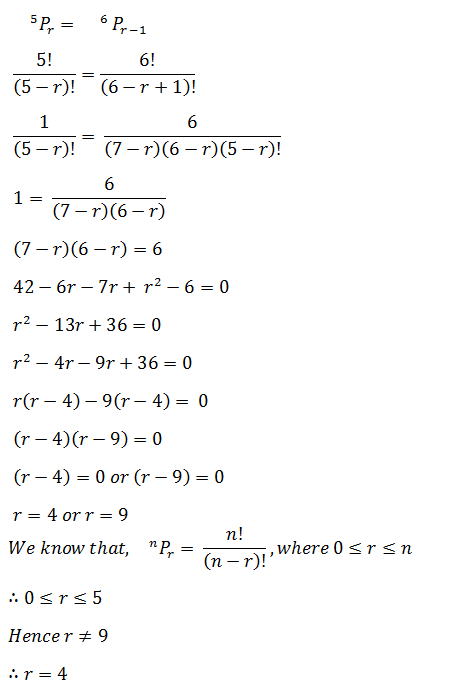 Permutation and Combination - Class XI - Exercise 7.3