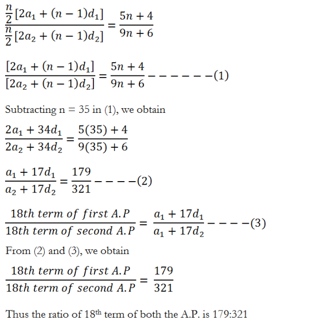Sequences and Series - exercise 9.2 - Class XI