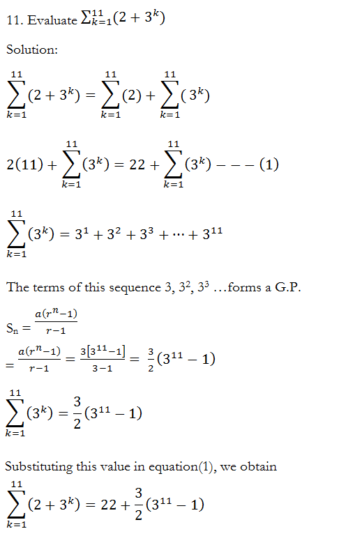 Sequences and Series – Exercise 9.2 – Class XI