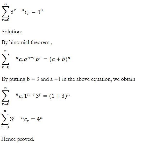 Binomial Theorem – Exercise 8.1 – Class XI